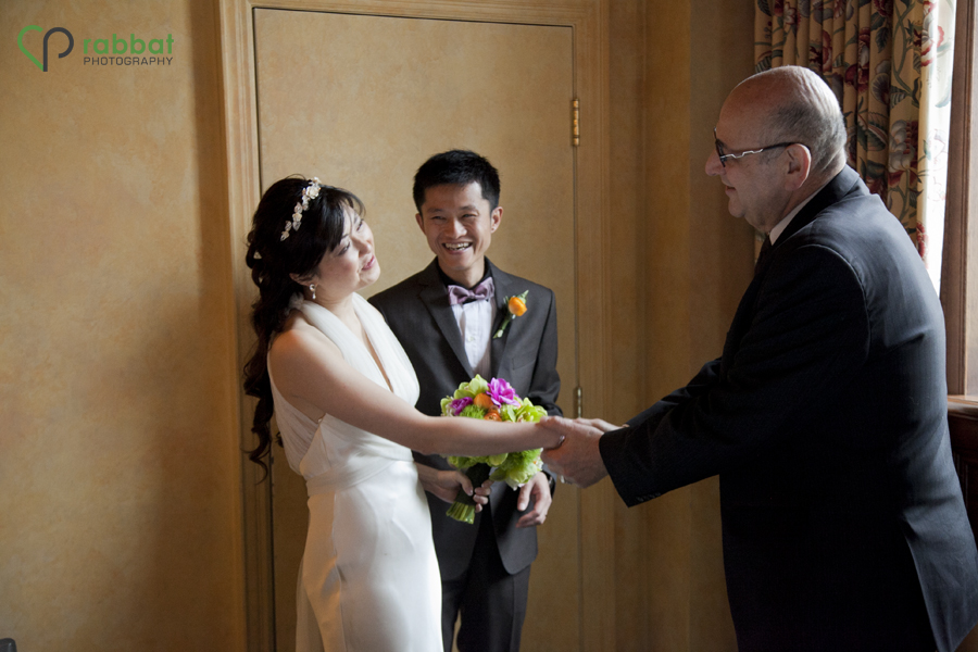 Post Ceremony handshake with officiant