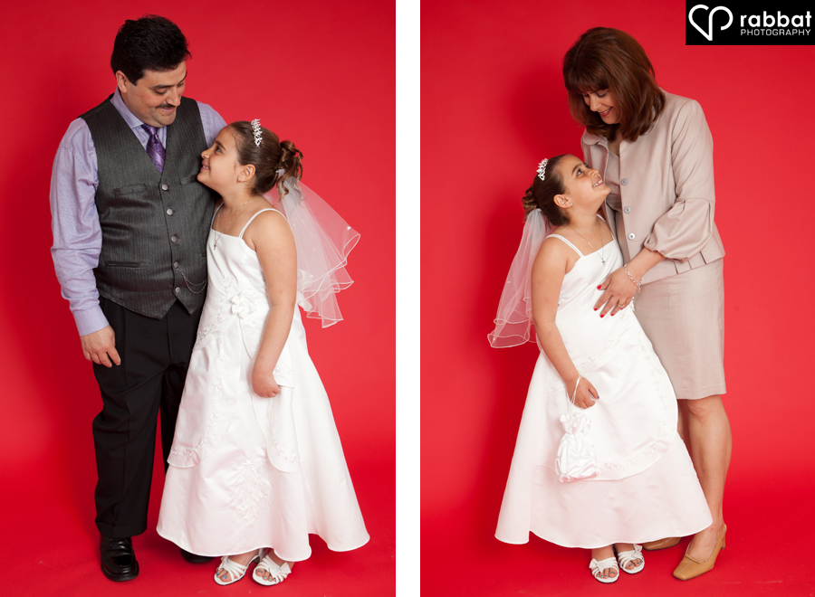 First Communion Potrait with Mom and First Communion Portrait with Dad