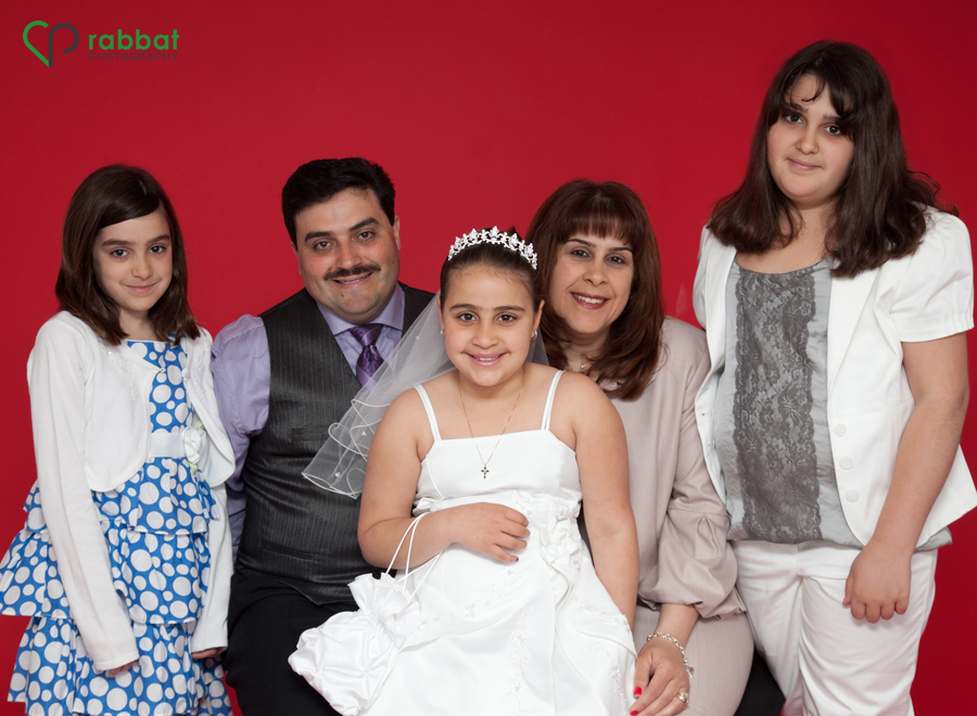 First Communion Portait with Family