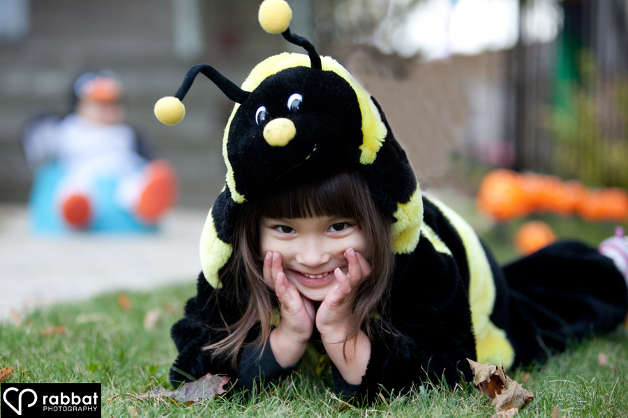 Julia in her bumblebee costume