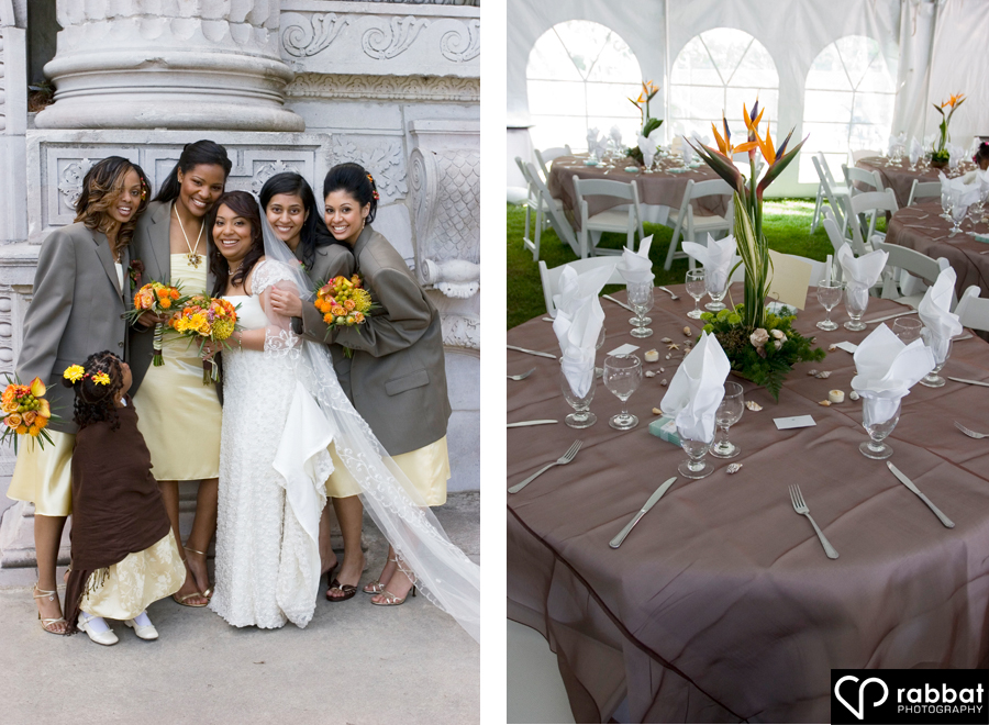 Bridesmaids And Table Setting