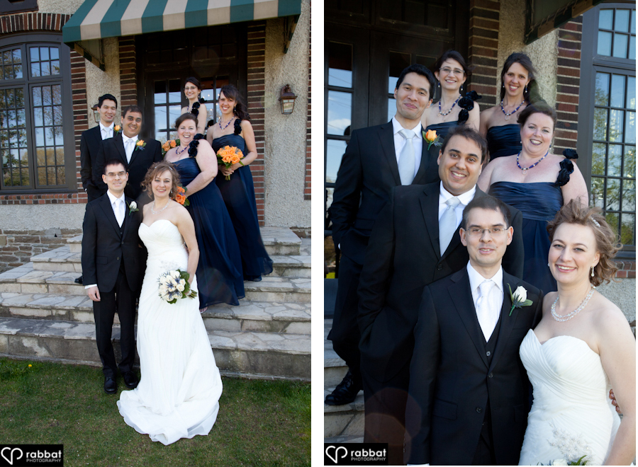 bridal party at st george's golf club wedding