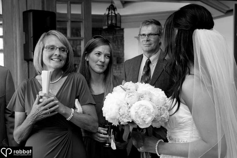Receiving line at King Valley Golf course