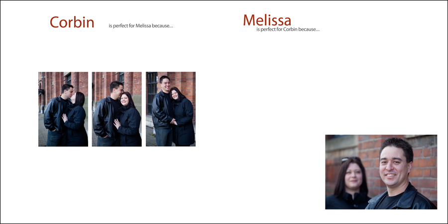 Engagement photos in front of a historic building in Toronto