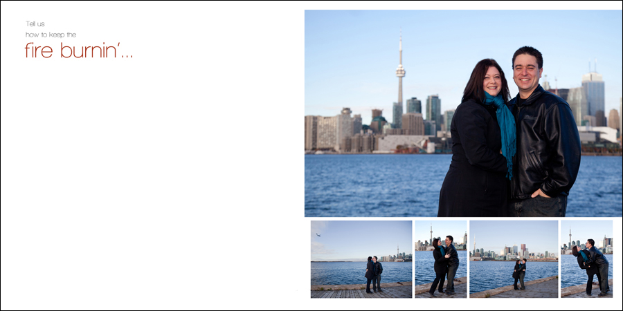 Downtown Toronto waterfront view engagement photos