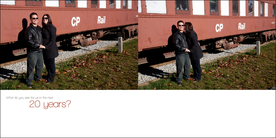 Engagement photos at the John Street Roundhouse