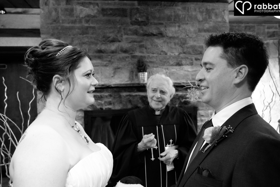 Indoor wedding ceremony at Ancaster Old Mill