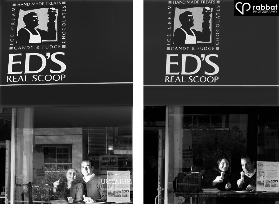 Engagement Photos at Ed's Real Scoop