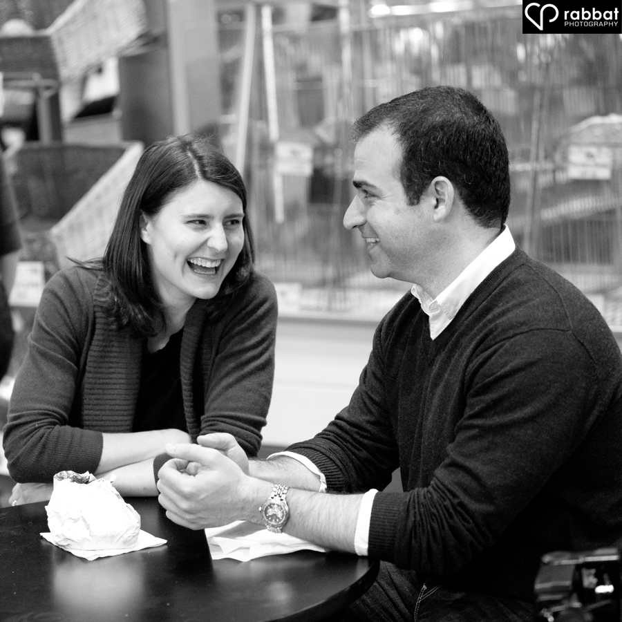 Engagement photos at the St Lawrence Market (Rabbat Photography)