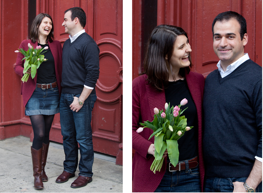 Toronto downtown engagement photos in St. Lawrence Market area