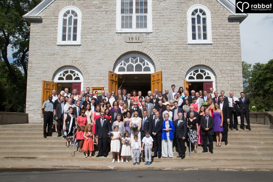 Everyone in front of the church