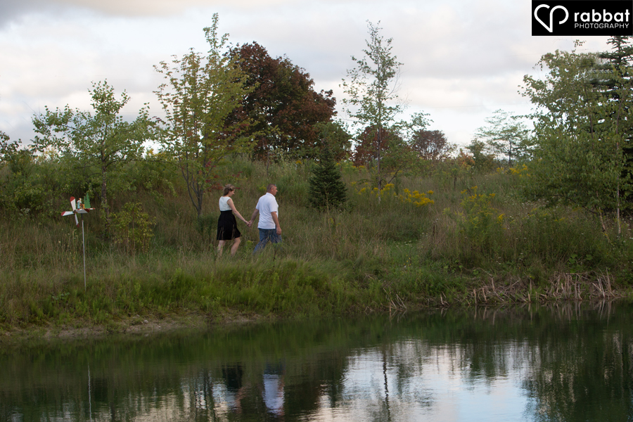 Walking around the pond at Belcroft Tree Farms