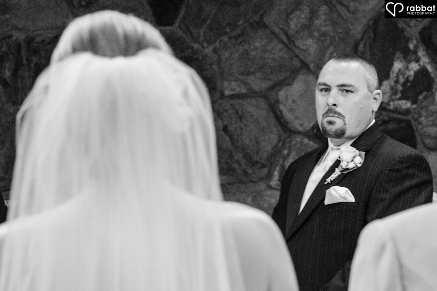 Groom seeing bride for first time