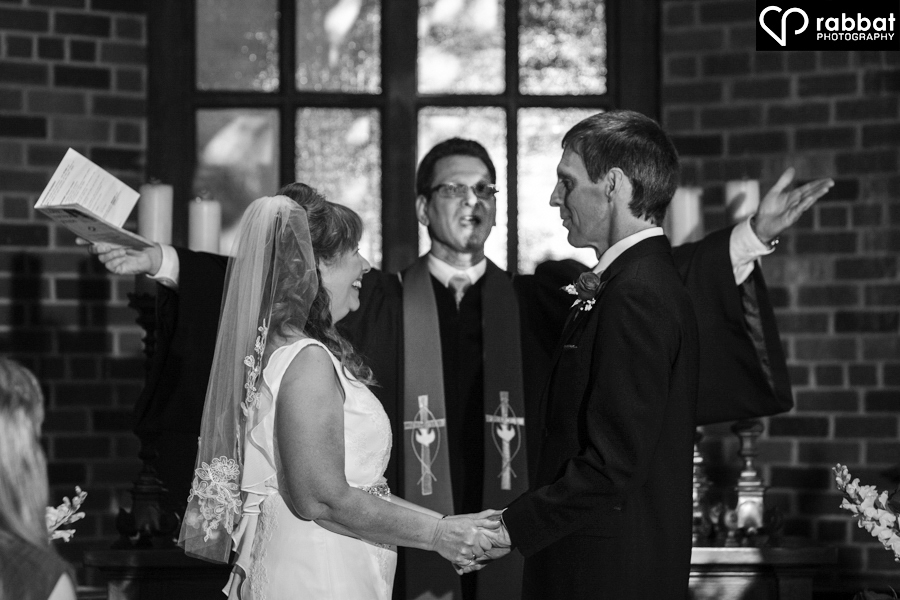 Wedding ceremony at the Old Mill Chapel