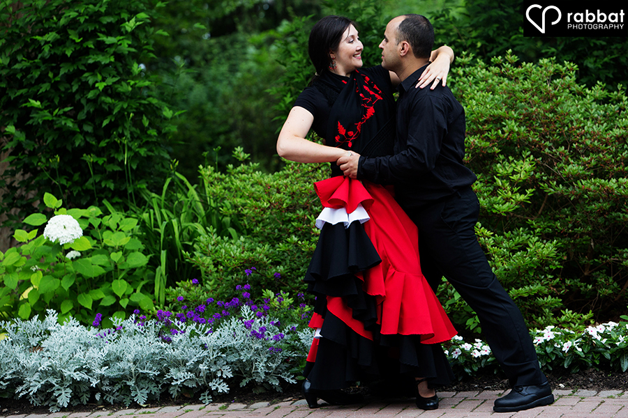 Flamenco dance couple portraits