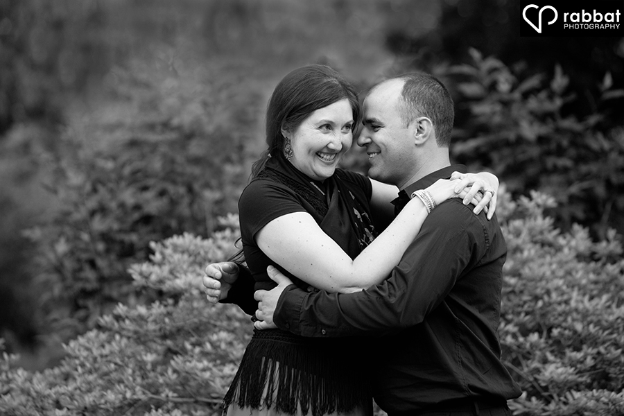 Black and white couples portrait