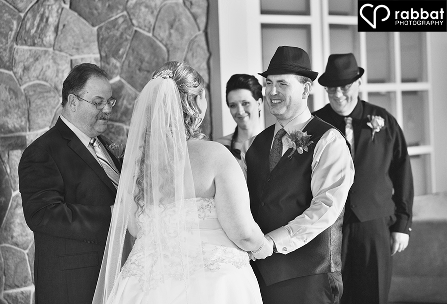 Emotional wedding ceremony from the groom's perspective