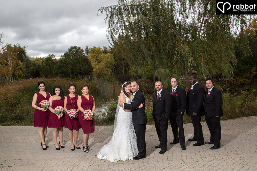 Bridal party photos at Humber Arboretum