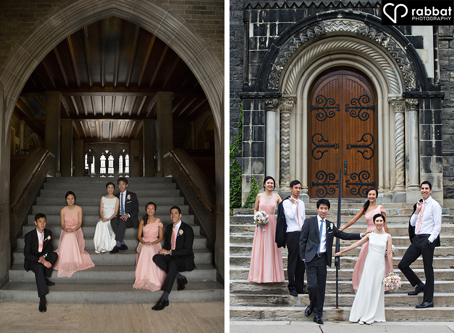 Hart House bridal party photos