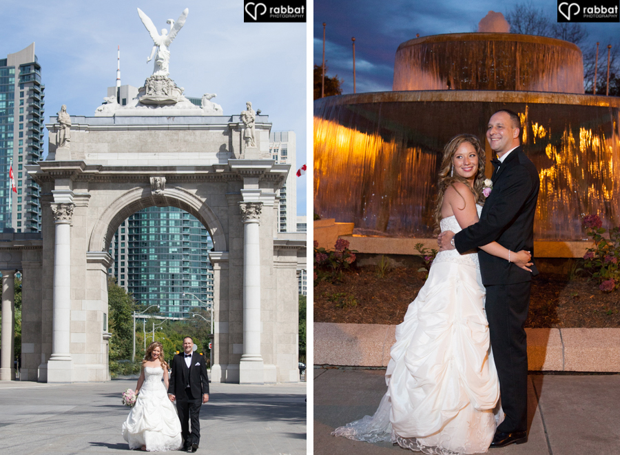 Wedding photos at Exhibition Place