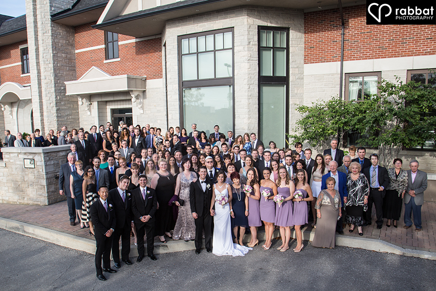 Large group photo outside Hazelton Manor