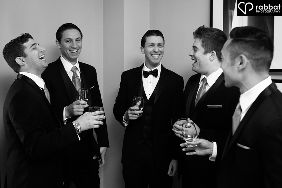 Groomsmen just after getting ready