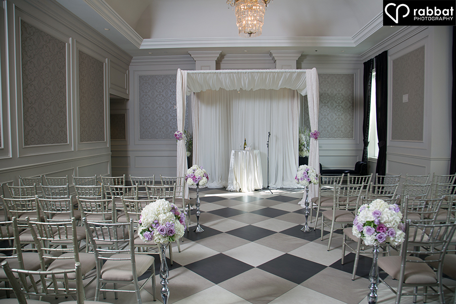 Ceremony site at Hazelton Manor