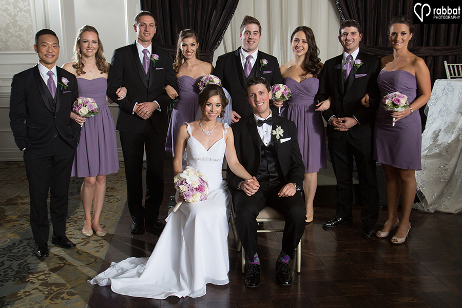 Bridal party photo at Hazelton Manor