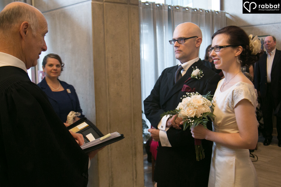 Wedding ceremony at City Hall