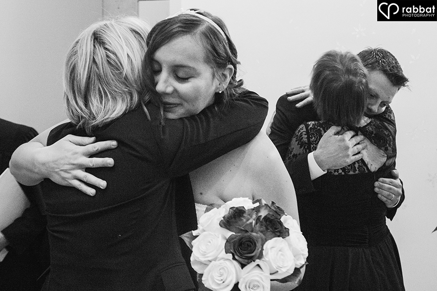 Post ceremony hugs