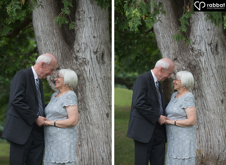 Happy couple on their 50th anniversary