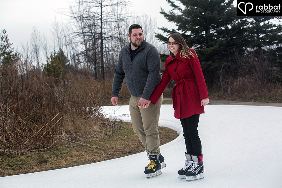 Skating Engagement Photos