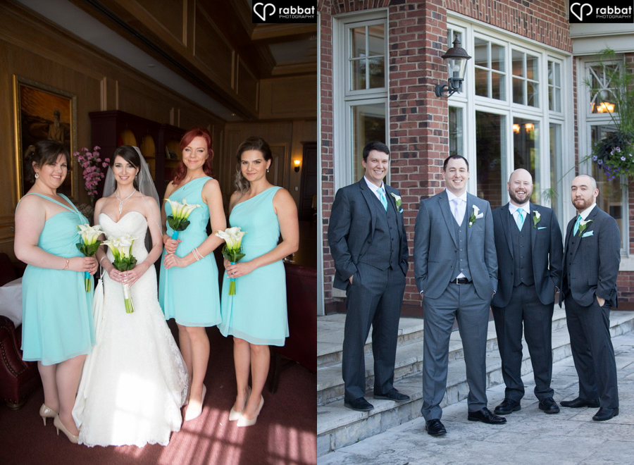 Bridesmaid and groomsmen