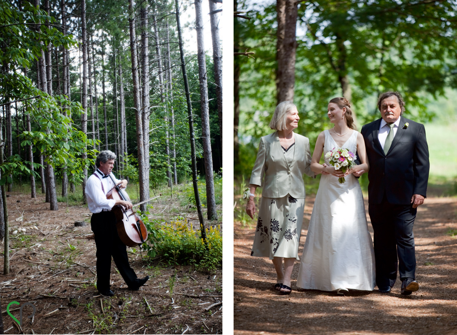 Cellist and walking down the aisle