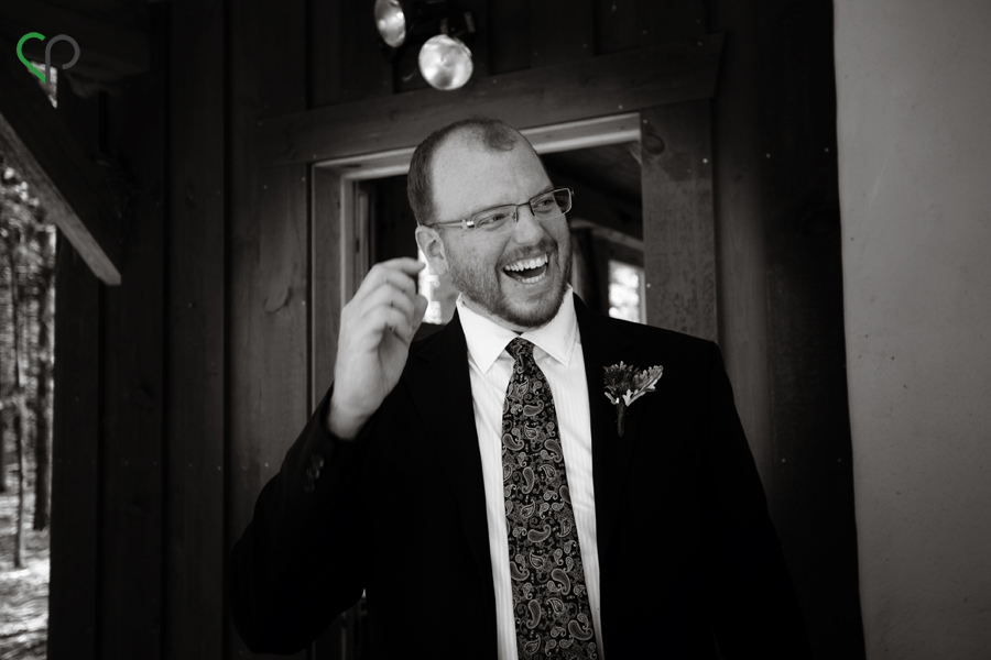 Jay laughing before the ceremony