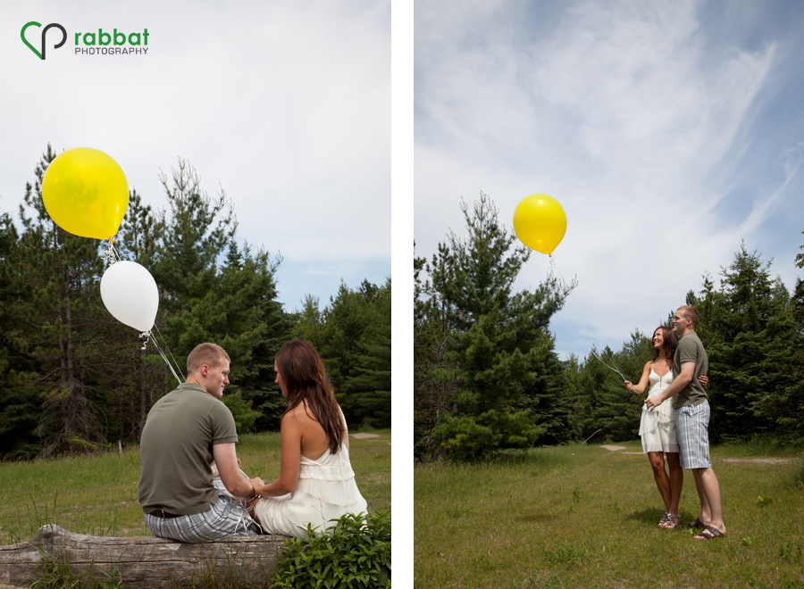 Engagement Photos with Helium Balloons