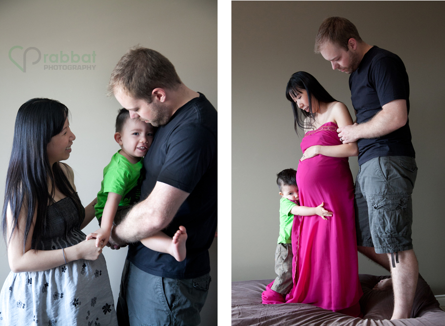 Maternity photos with a 2 year old