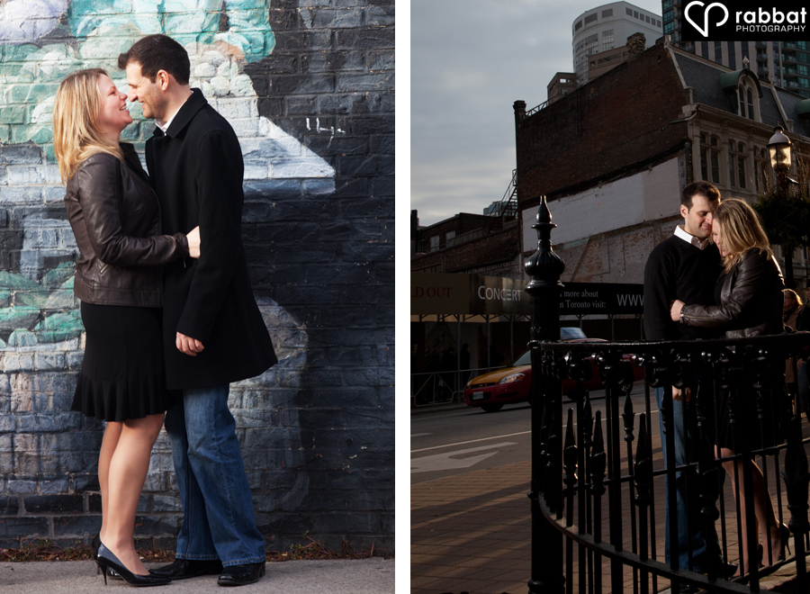 St. Lawrence Market and Flat Iron Building Toronto Downtown Engagement photos
