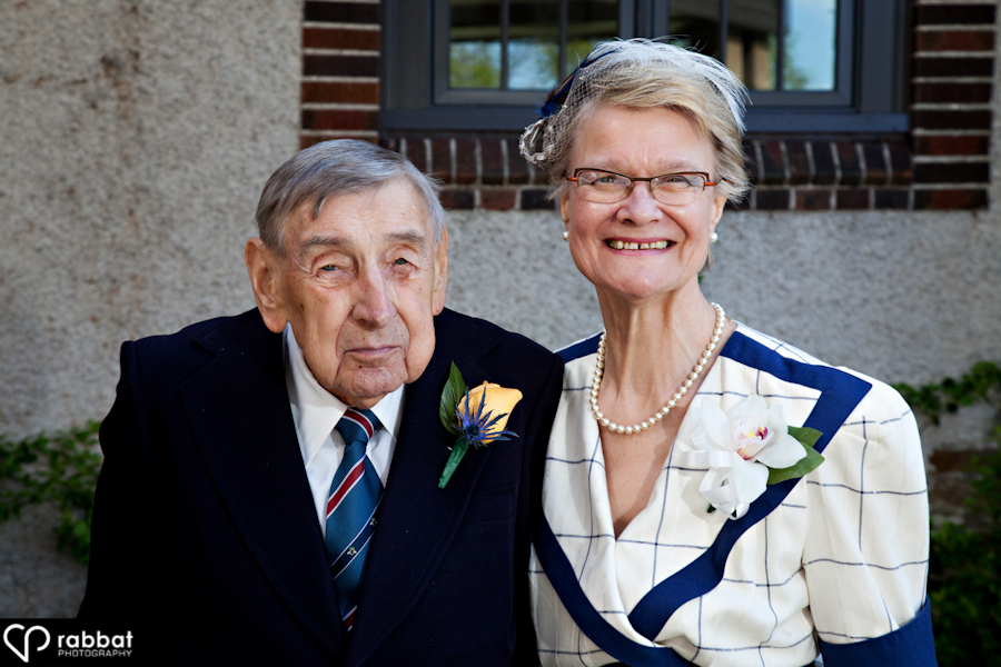 Parents of the bride outside St. George's golf club