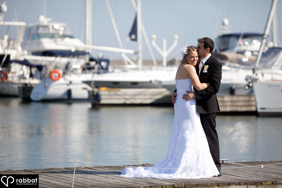 Romancing on the dock