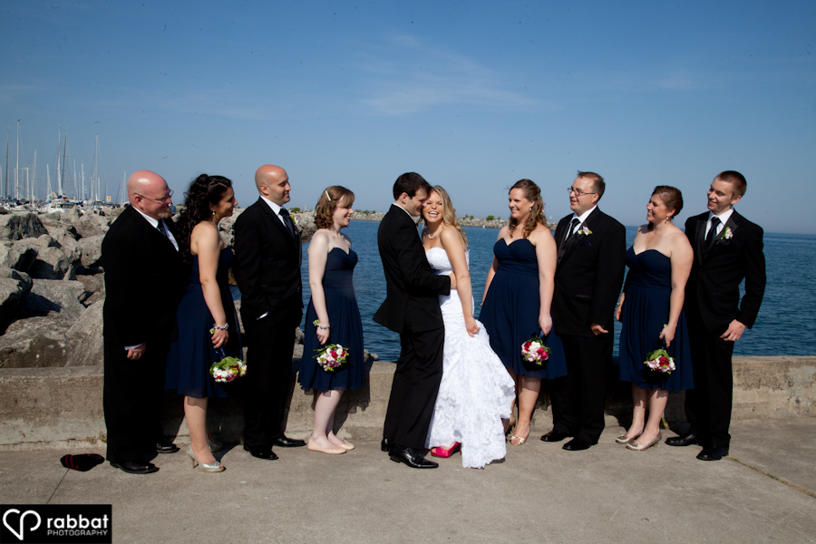 Bridal party in Oakville