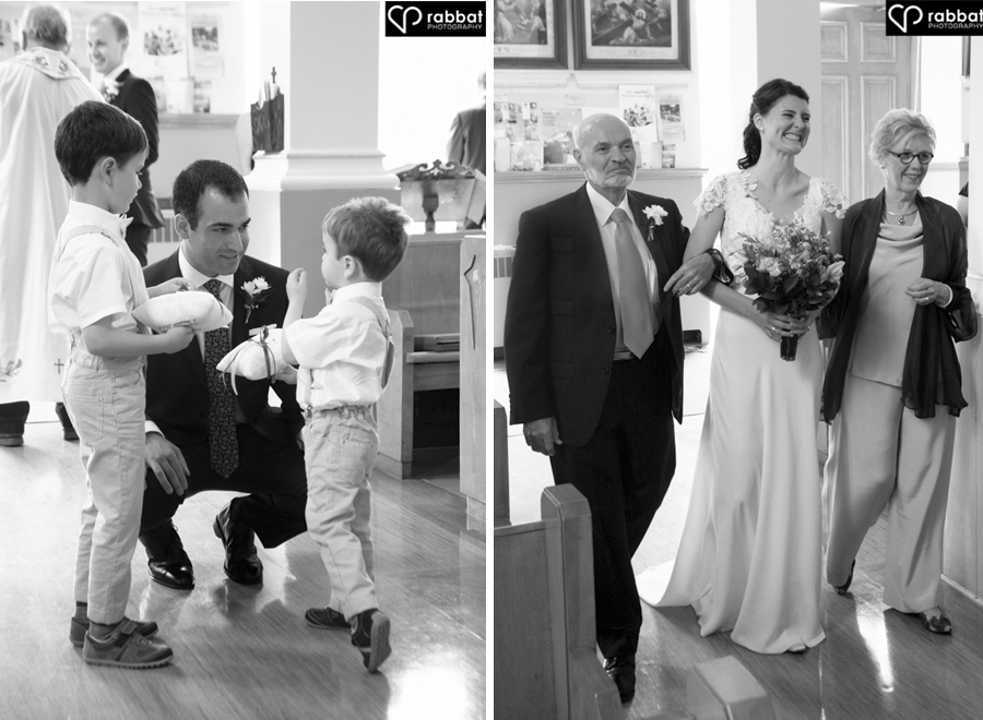 Ceremony Mike with ringbearers and Sophie walking down the aisle