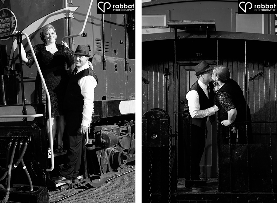 Engagement photos at the Roundhouse