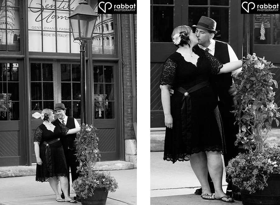 Engagement photos in the Distillery District