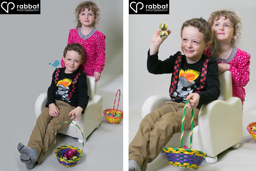 Creative Easter Photo Brother and Sister