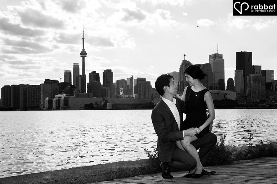 Toronto Skyline Engagement Photos at the Docks