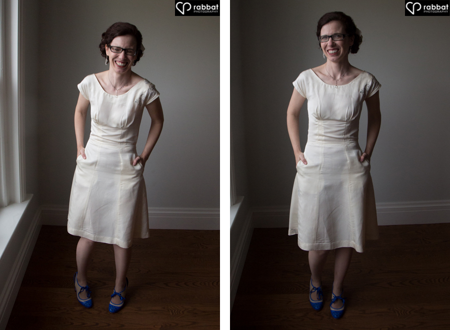 Bride who sewed her own dress