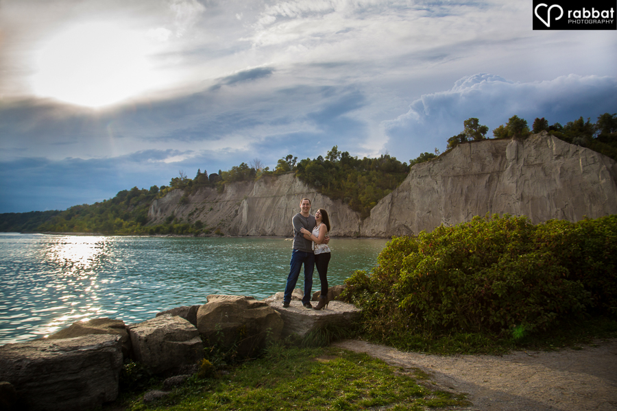 Engagement Photo at the Scarborough Bluffs