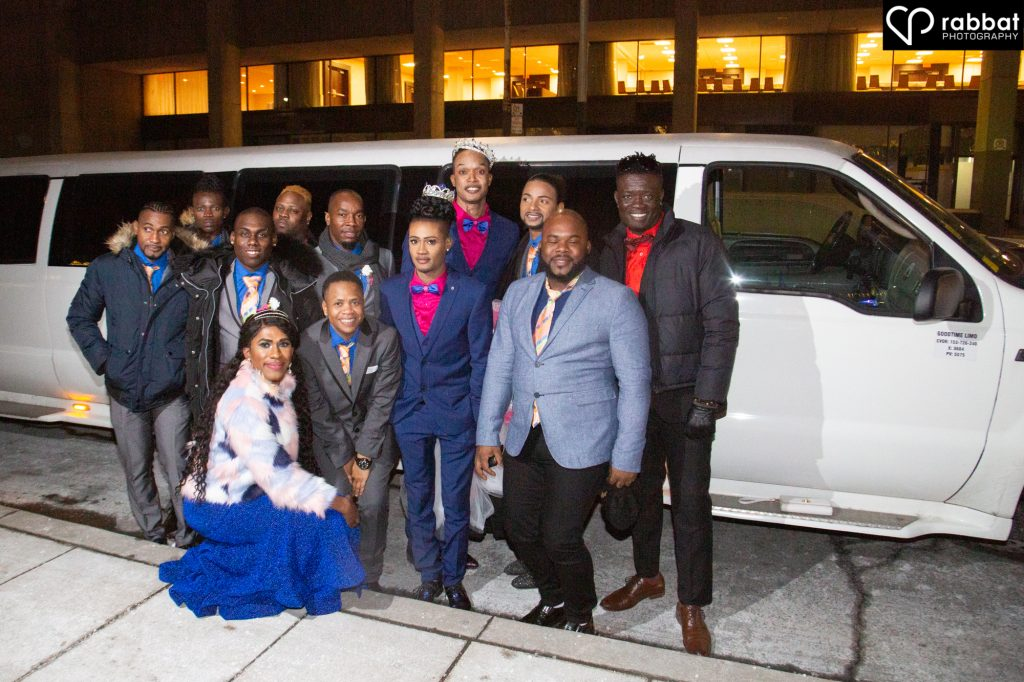 Limo with friends